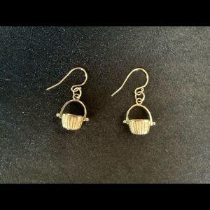 14K Yellow Gold Nantucket Basket Earrings